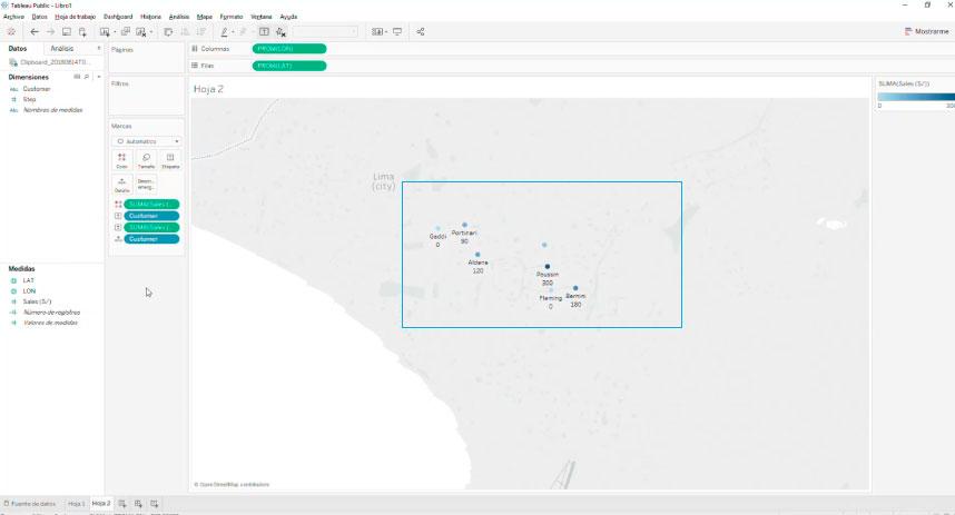 Crear Mapas Georeferenciados y Ruteos con Tableau