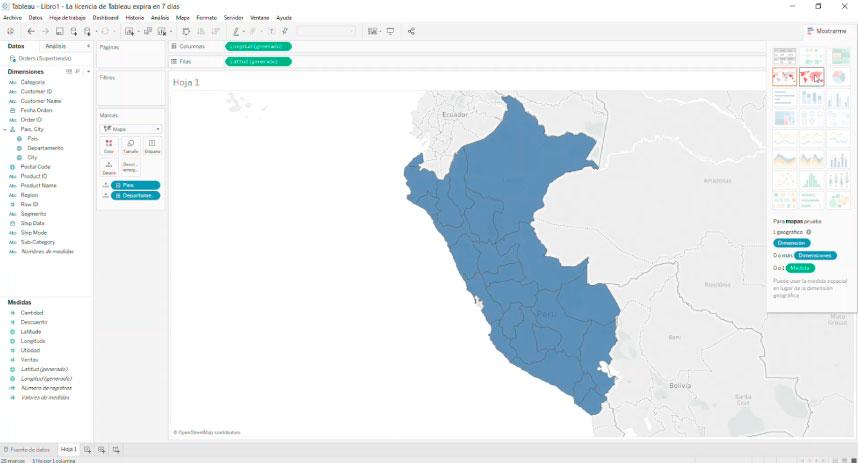 Crear un reporte usando mapas con Tableau